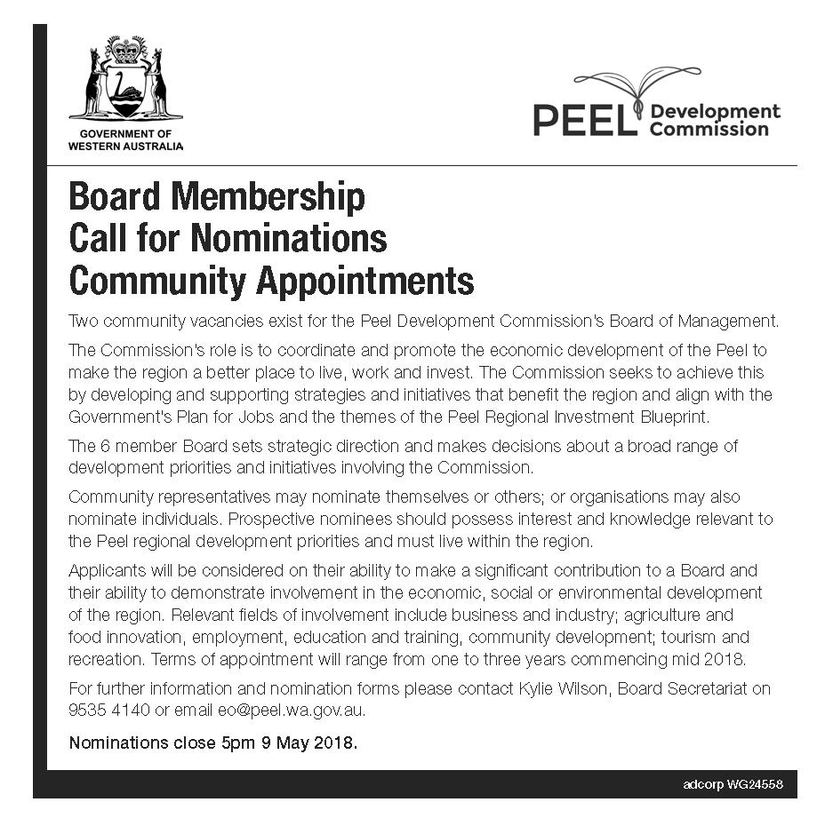 Board Vacancy Advert