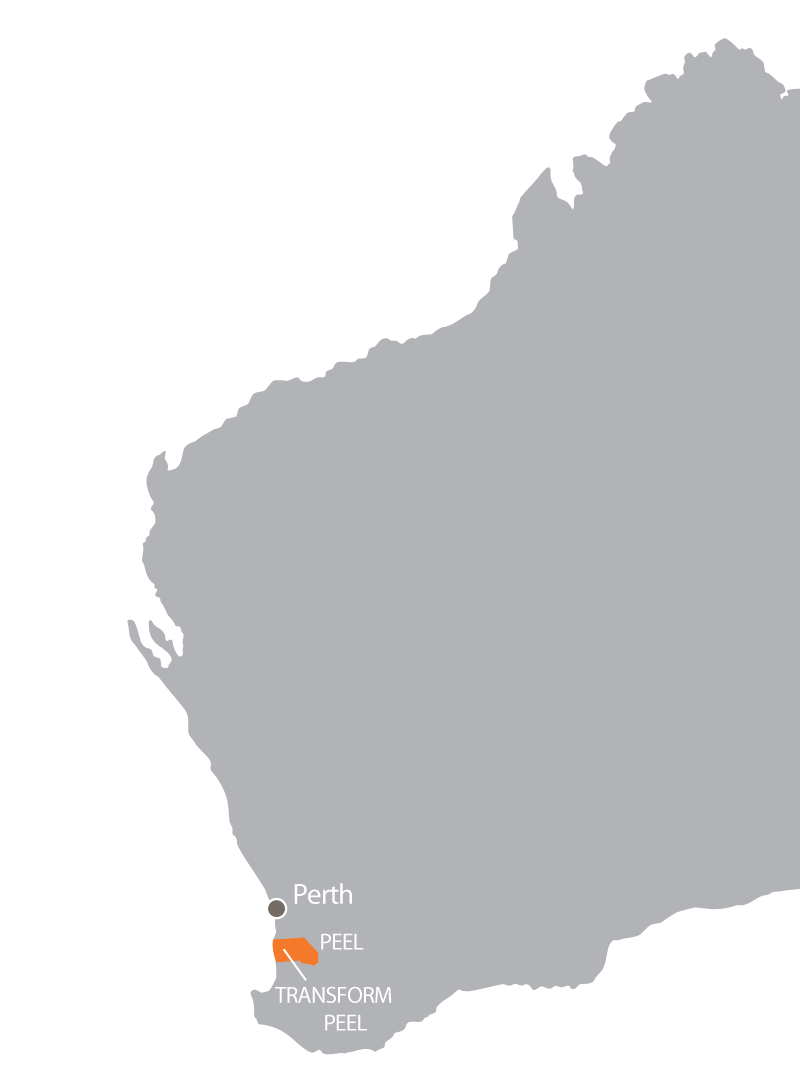 Maps Transform Peel Is Located 70 Kms From South Of Perth
