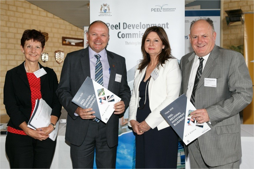 From left- Commission Deputy Chair, Dr Sue Fyfe, the Hon. Colin Holt MLC, Commission Chief executive Mellisa Teede and Board Chairman Paul Fitzgerald (pic courtesy of Energy Images)