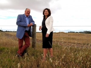 Peel Development Commission chairman Paul Fitzpatrick and CEO Mellisa Teede at the greenfields site of the Peel Business Park at Nambeelup which will future proof the Peel for generations to come