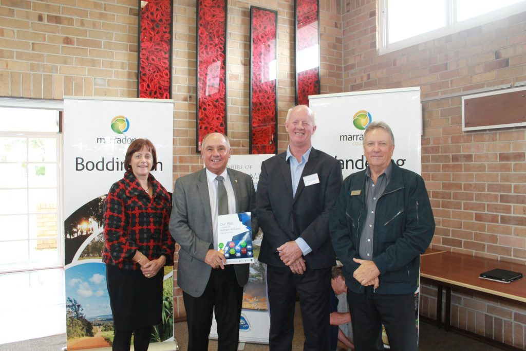 Wendy Newman, CEO Wheatbelt Development Commission, Hon. Terry Waldron, Member for Wagin,   Greg Cavanagh, Chair Hotham Williams Economic Development Alliance,  Kelvin Barr, Director Economic and Regional Development, Peel Development Commission